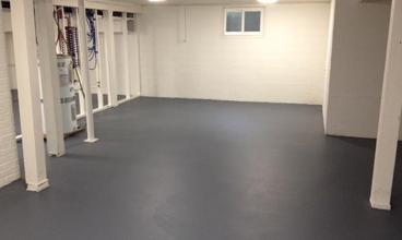 basement floor epoxy and sealer