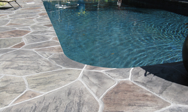 concrete pool deck
