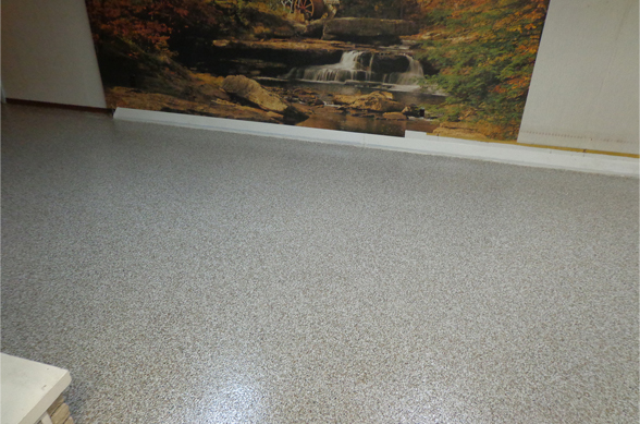epoxy coating basement floors