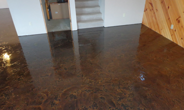 epoxy concrete basement floor