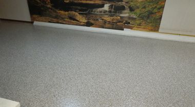 Epoxy basement floor