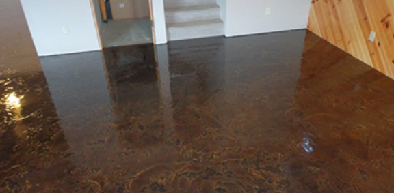 Epoxy Concrete Basement Floor